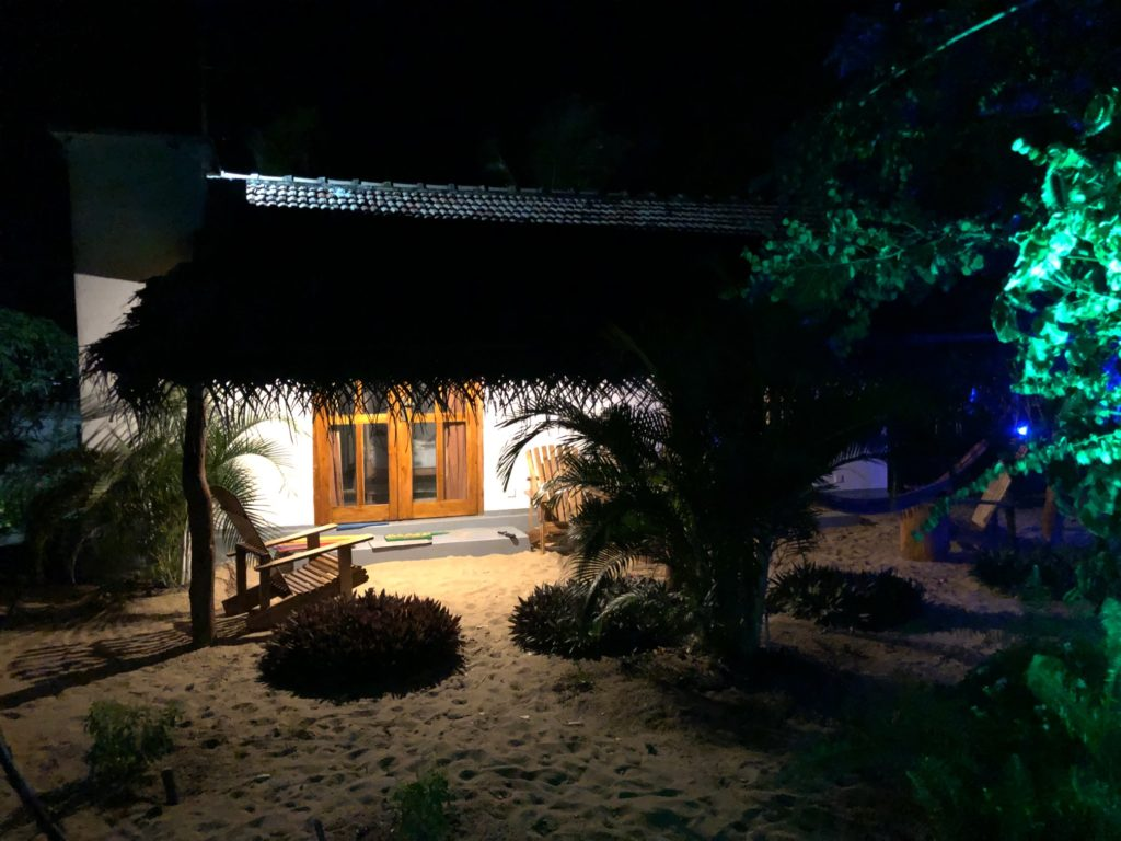 kadjan villa porch at night