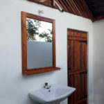 washbasin and entrance door