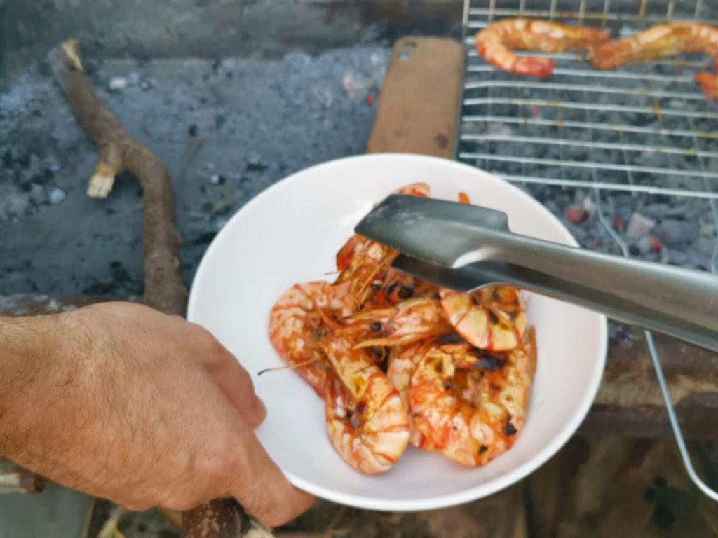fresh prawn grill